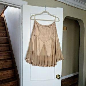 Gold satin skirt